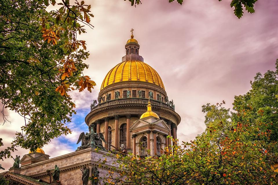 Church, Dome, Gilded, Architecture, Religion, Dom