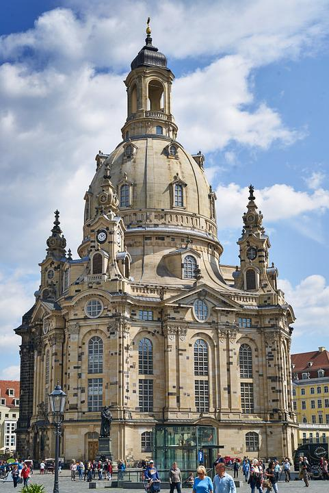 Frauenkirche, Dresden, Germany, Building, Church