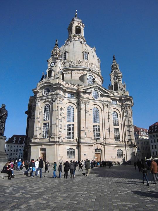 Frauenkirche, Dresden, Germany, Church, Neumarkt