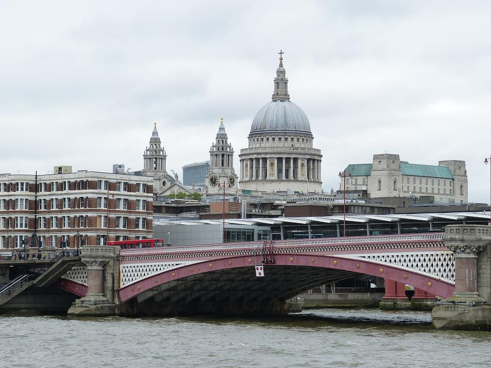 London, River Thames, England, United Kingdom, Church