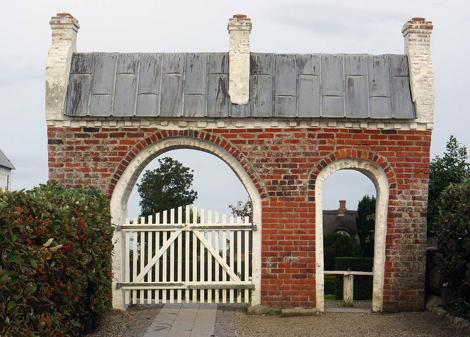 Ballum, Church, Gate, Entrance, Denmark