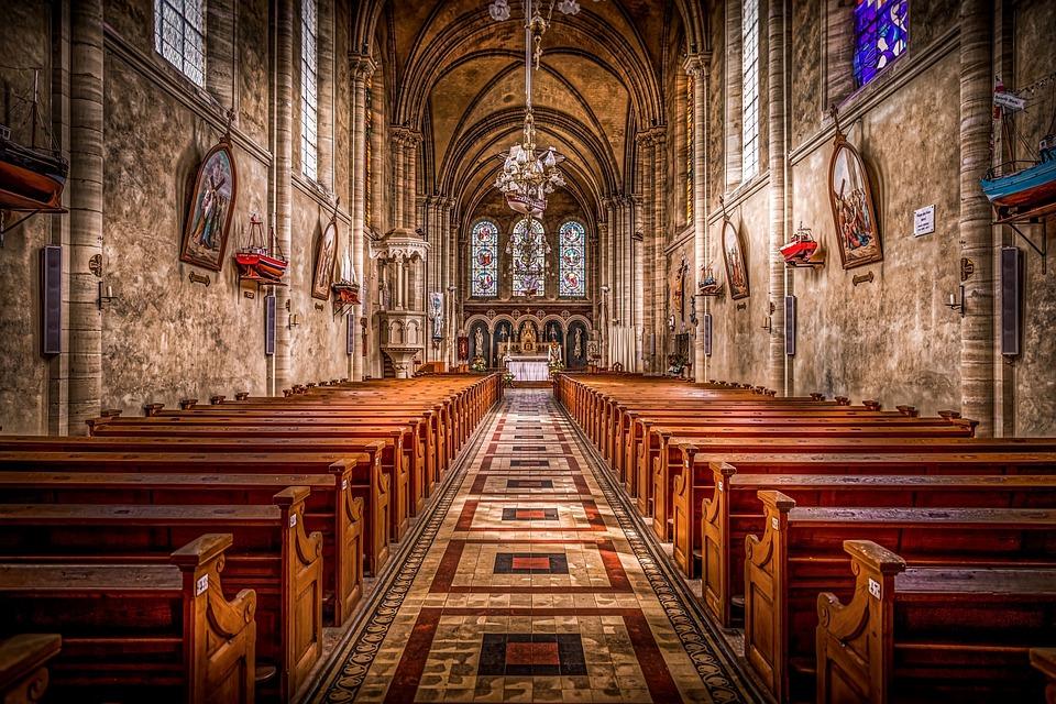 Church, Fishermen, Normandy, Architecture, European
