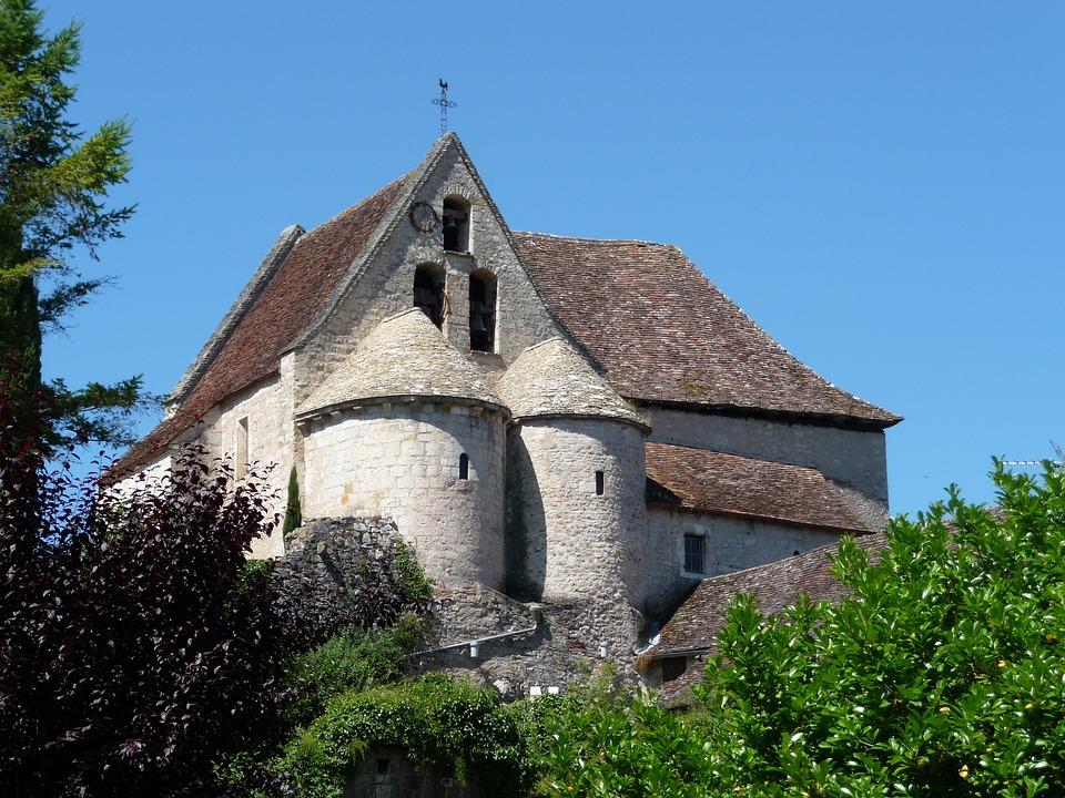 Church, France, Romanesque Architecture, Creysse
