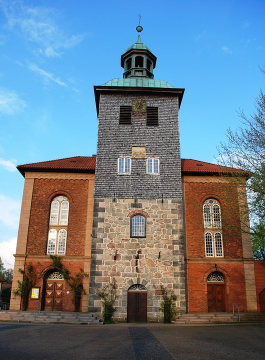 Church, Walstrode, Germany, Christian, Europe