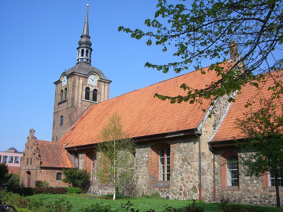 Flensburg, Church, St Johannis, Germany, Old, Building