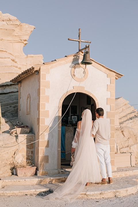 Bride, Wedding, Church, Groom, Love, People, Ceremony