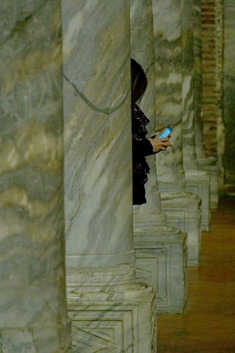 Human, Mobile Phone, Smartphone, Church, Absorbed