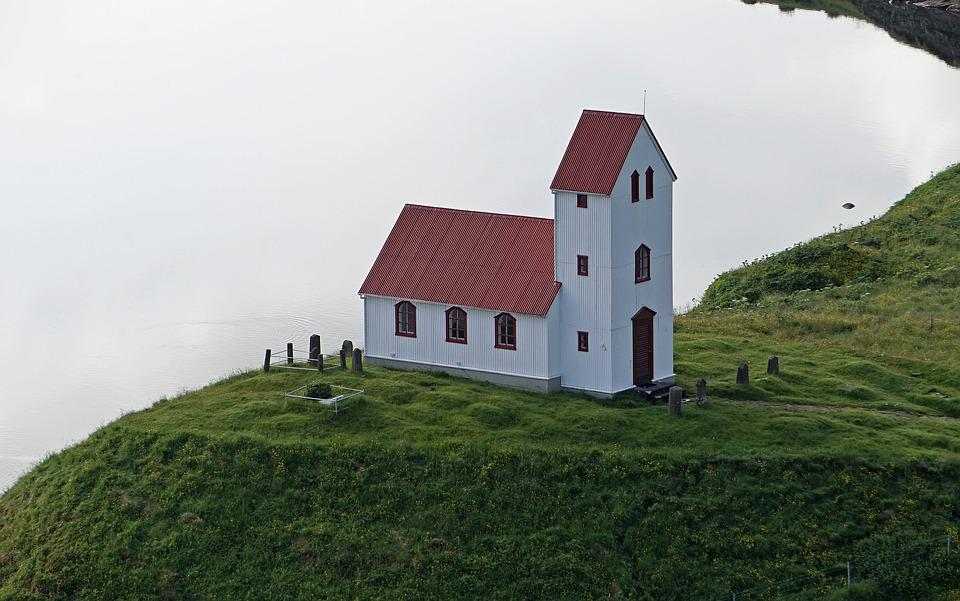 Church, Chapel, Iceland, Hill, House Of Prayer