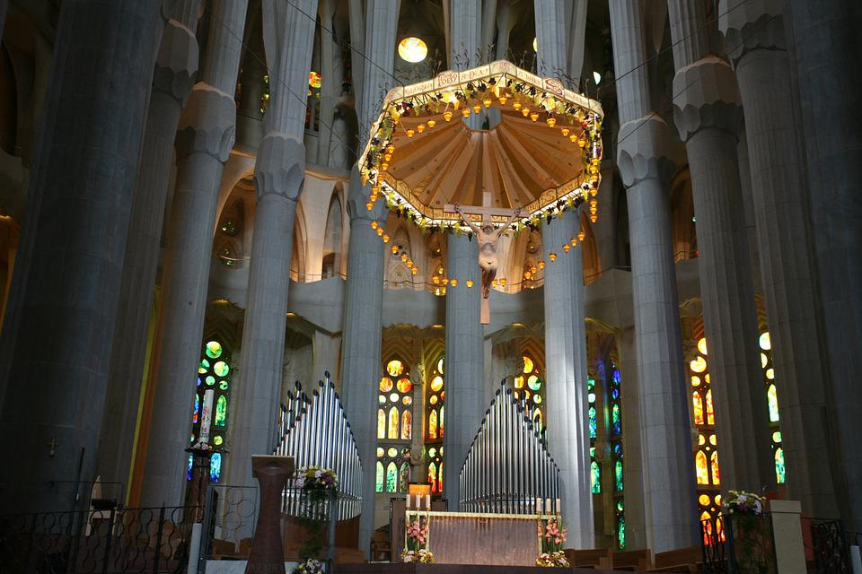 Church, Christianity, Building, Interior, Canopy