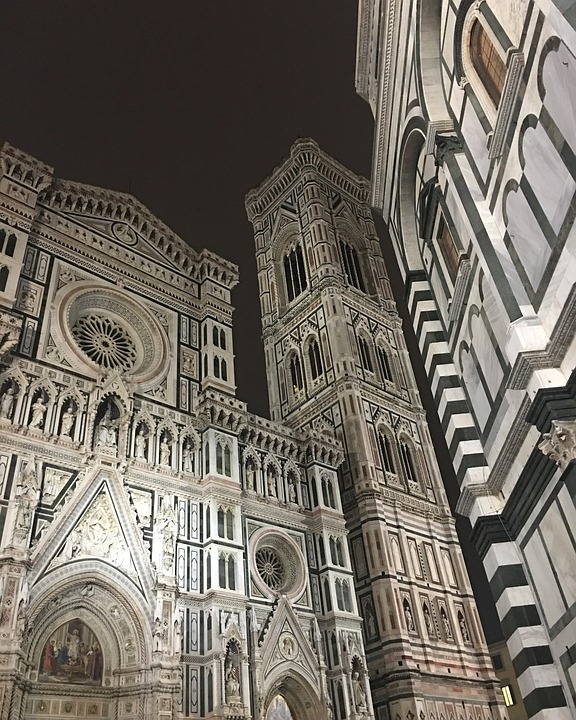 Florence, Italy, Italian, Architecture, Old, Church