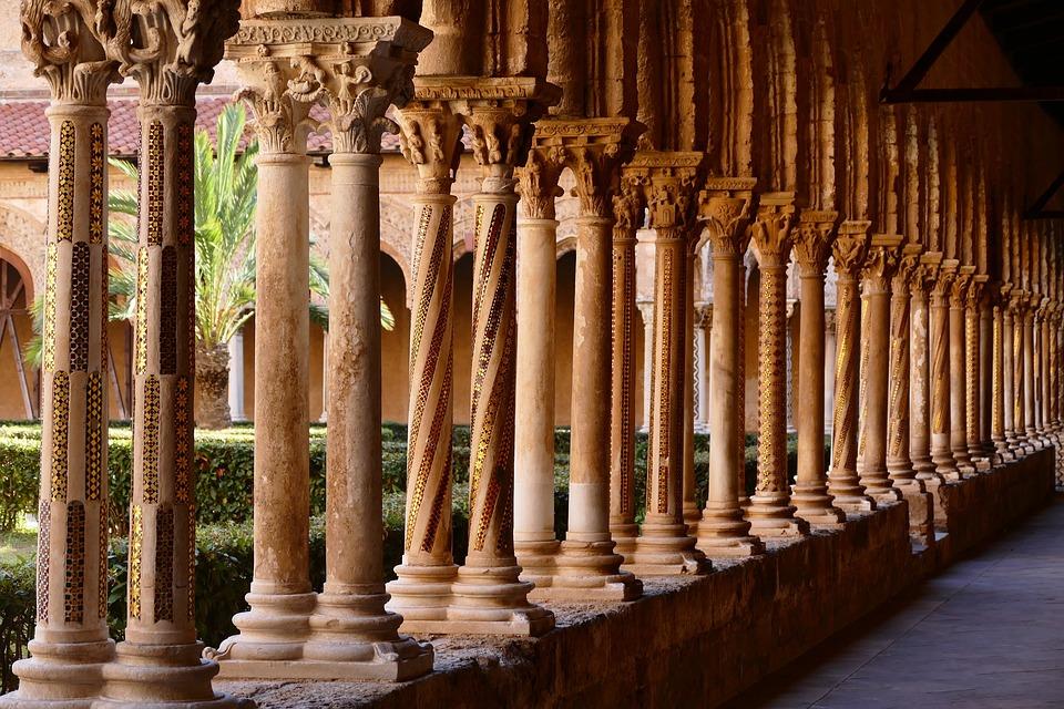 Sicily, Monastery, Dom, Italy, Architecture, Church