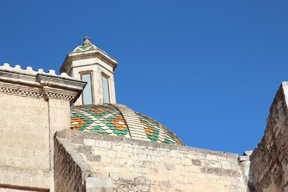 Dome, Church, Ostuni, Majolica, Italy, Architecture