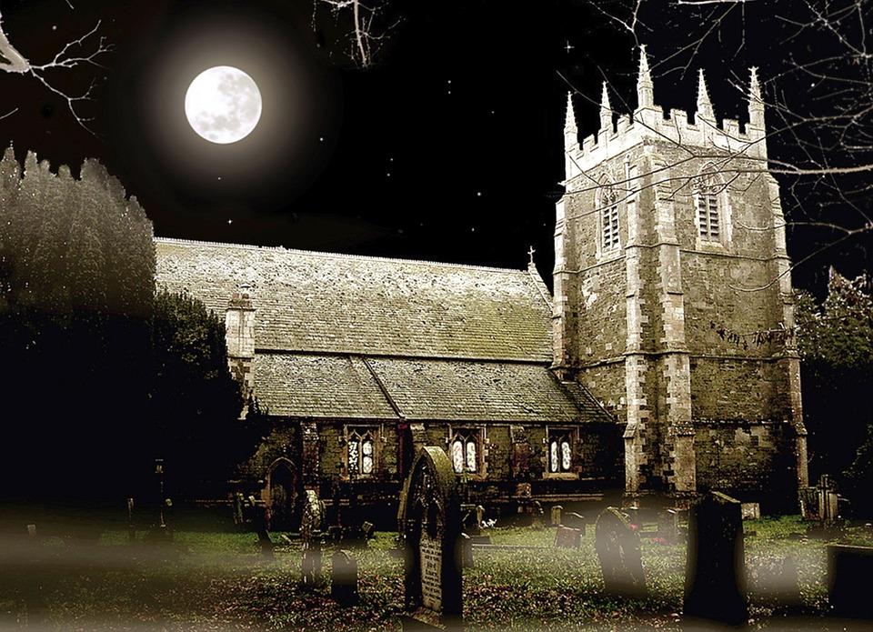 Church, Moonlight, Lincolnshire, Night