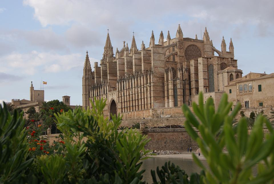 Church, Cathedral, Building, Architecture, Mallorca
