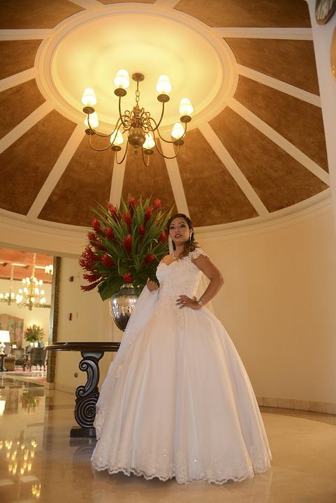 Women, Wedding, Flowers, House, Marriage, Veil, Church