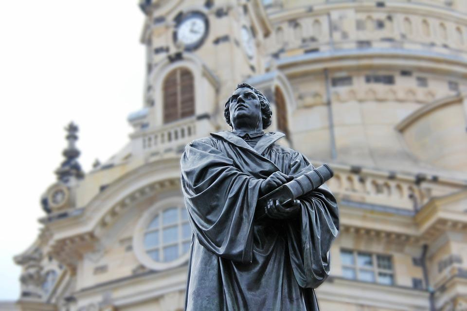 Martin Luther, Church, Pray, Church Of Our Lady