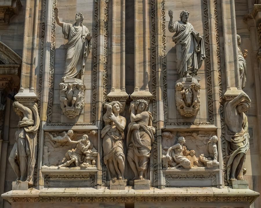 Italy, Milano, Duomo, Architecture, Church, Design, Old