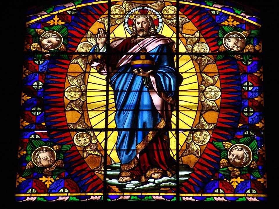 Montalcino, Church, Church Window, Stained Glass