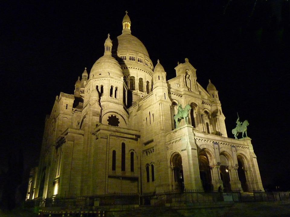 Sacre Coeur, Church, Montmartre, House Of Worship