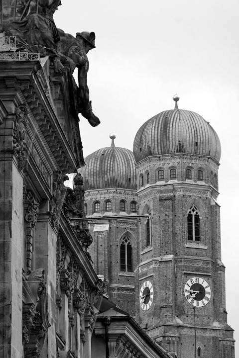 Munich, Church, Church Steeples, Architecture