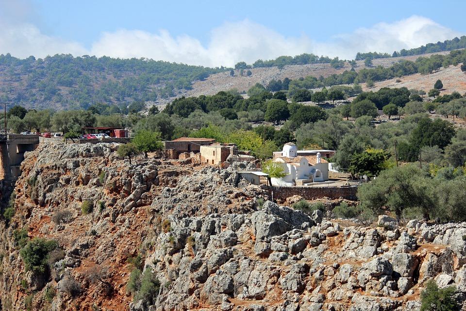 Aradena, Church Of Archangelos, Greek, Remote, Rocks