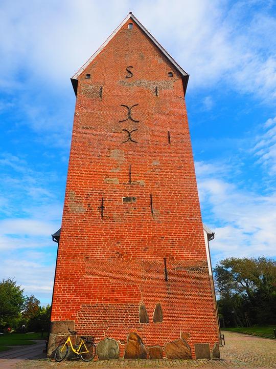Steeple, Church, Brick Church, Church Of St Severin