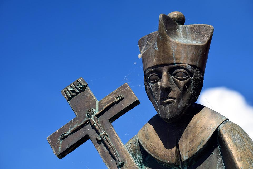 Bishop, Holy, Church, Religion, Statue, Old, Sculpture