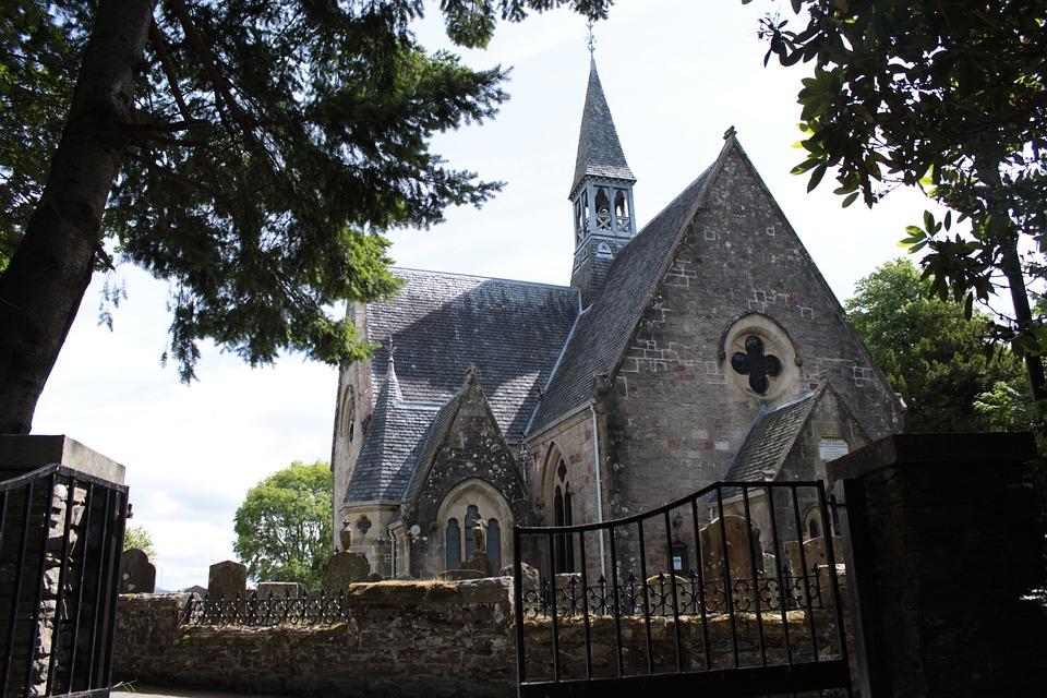 Old, Church, Fence, Stone, Scotland, Religion, God