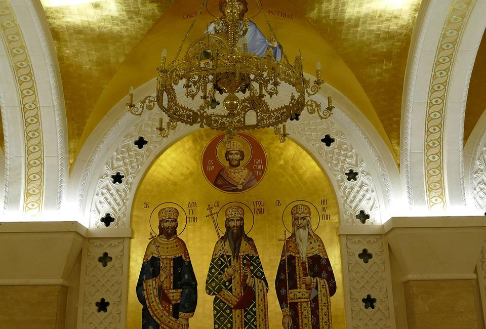 Church, Orthodox, Golden, Image, Icon, Christianity