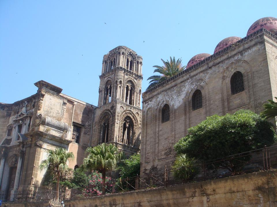 Palermo, Sicily, Summer, Monument, Church, City