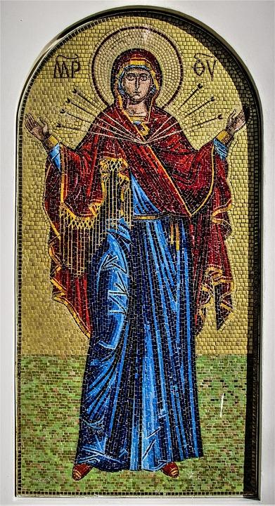 Panagia Semistrelia, Mosaic, Russian, Church