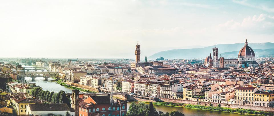 Florence, Italy, Sky, Church, Tuscany, Panorama, Towers