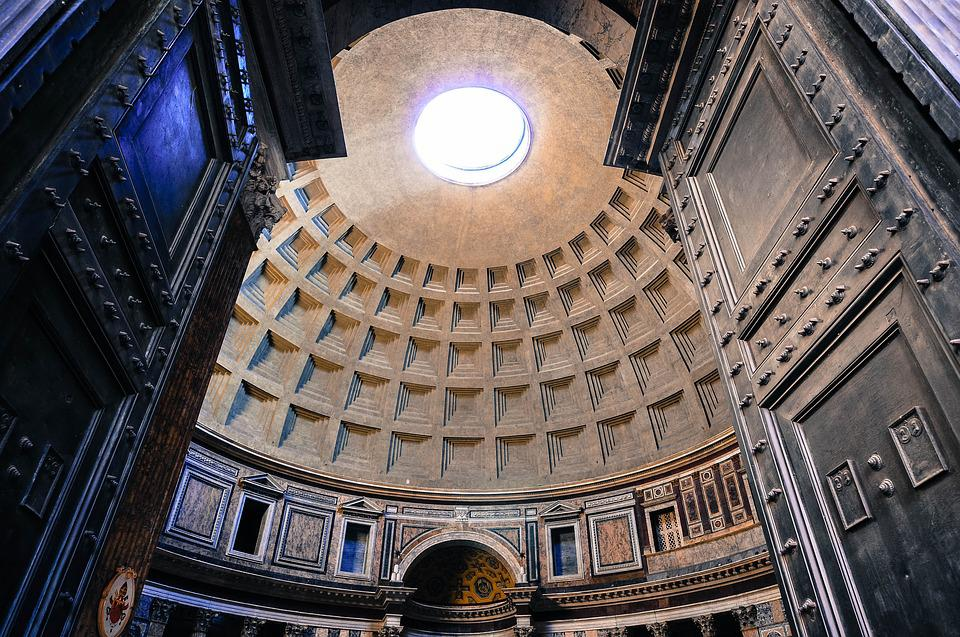 Temple, Church, Pantheon, Rome, Architecture, Religion