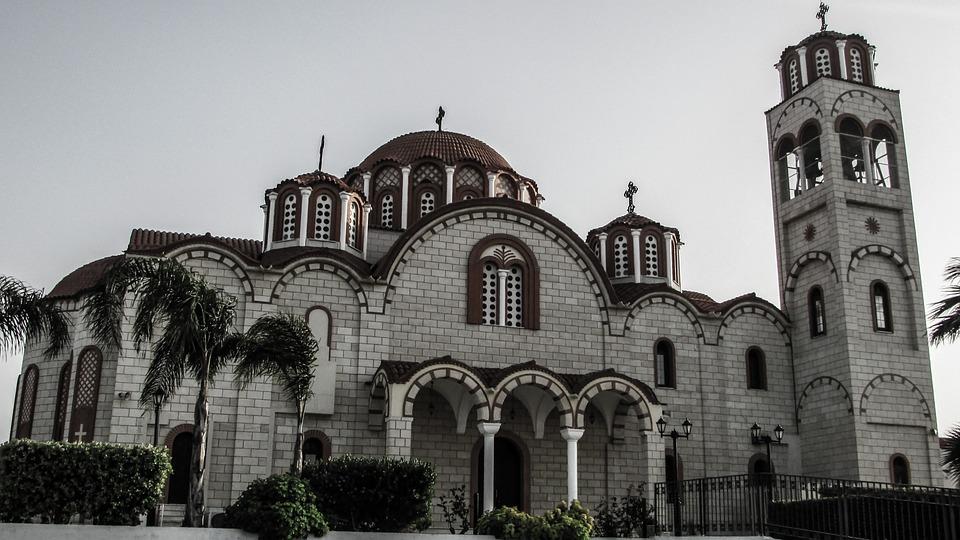 Cyprus, Paralimni, Ayia Varvara, Church, Architecture