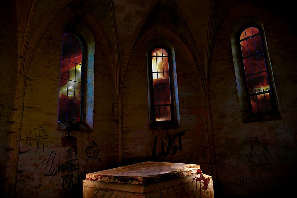 Chapel, Church, Image Editing, Ruin, Pentacle