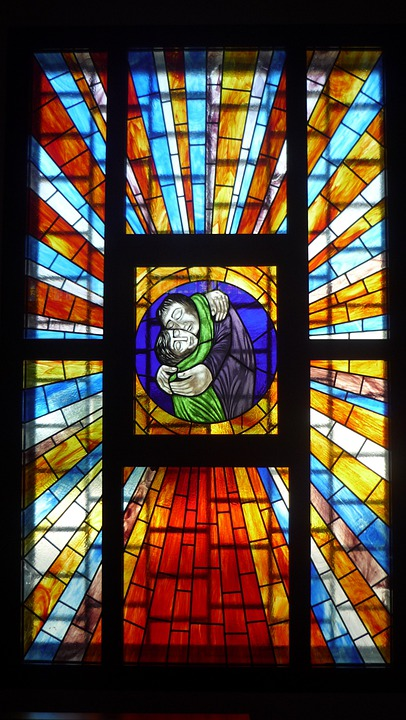 Stained Glass Window, Church, Parish, Penumbra, Light