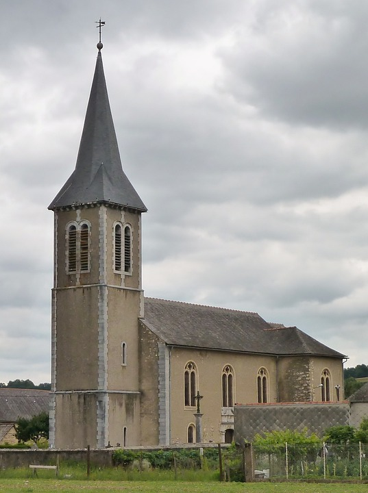 Church, France, Vielle Adour, Pitched Roof