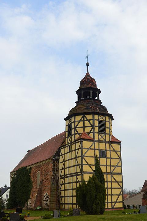 Church, Truss Tower, Pray, Christian, Löben