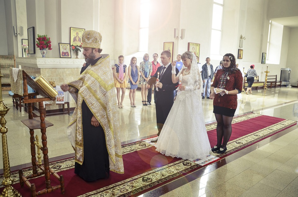 Wedding, Church, Pastor, Priest, Russia, Russian