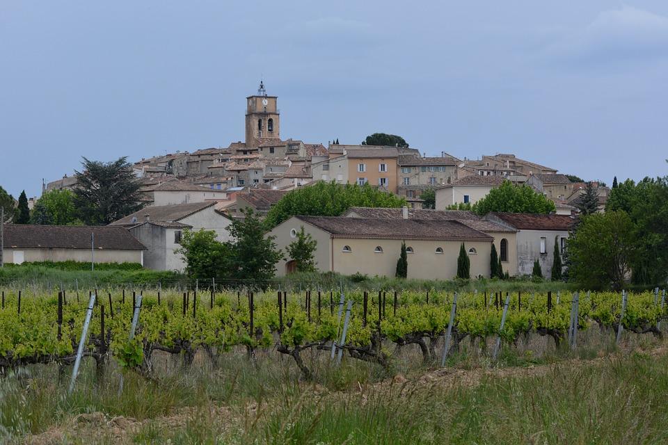 Village, Provence, Vaucluse, Vineyard, Church