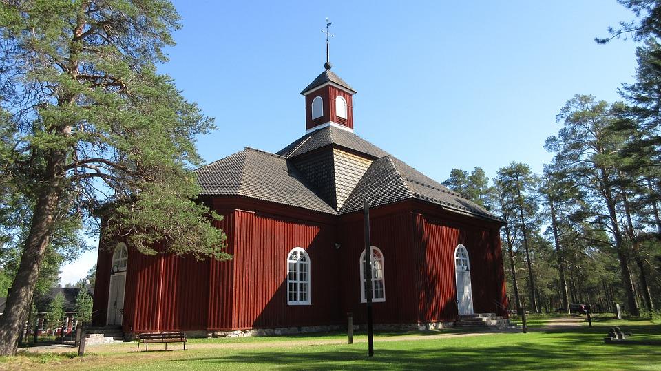Pudasjärvi, Church, Northern Finland