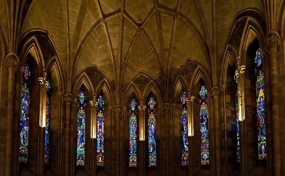 Abbey, Glass, Religion, Architecture, Church, Building