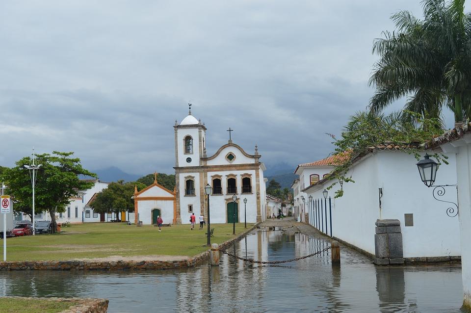 Paraty, River Jnaeior, Church, Street, Waterlogged