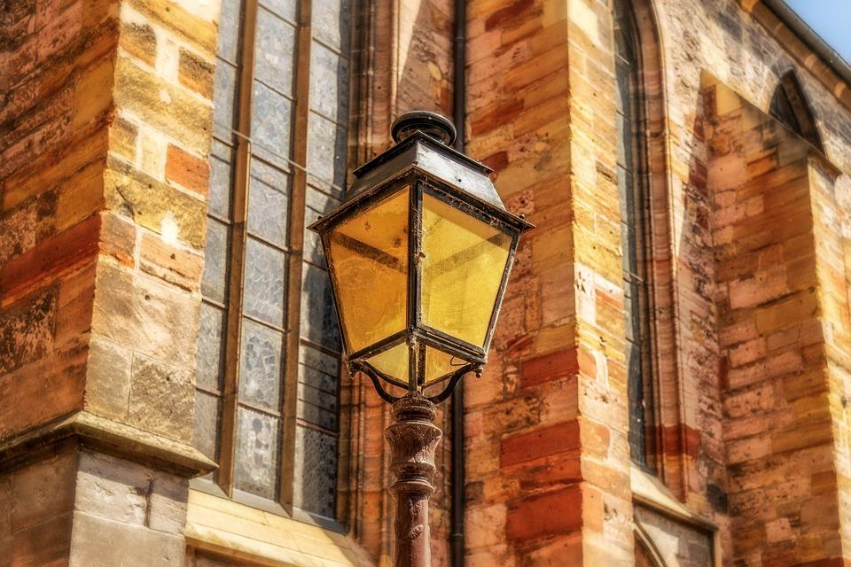 Lantern, Light, Lighting, Road, Historically, Church