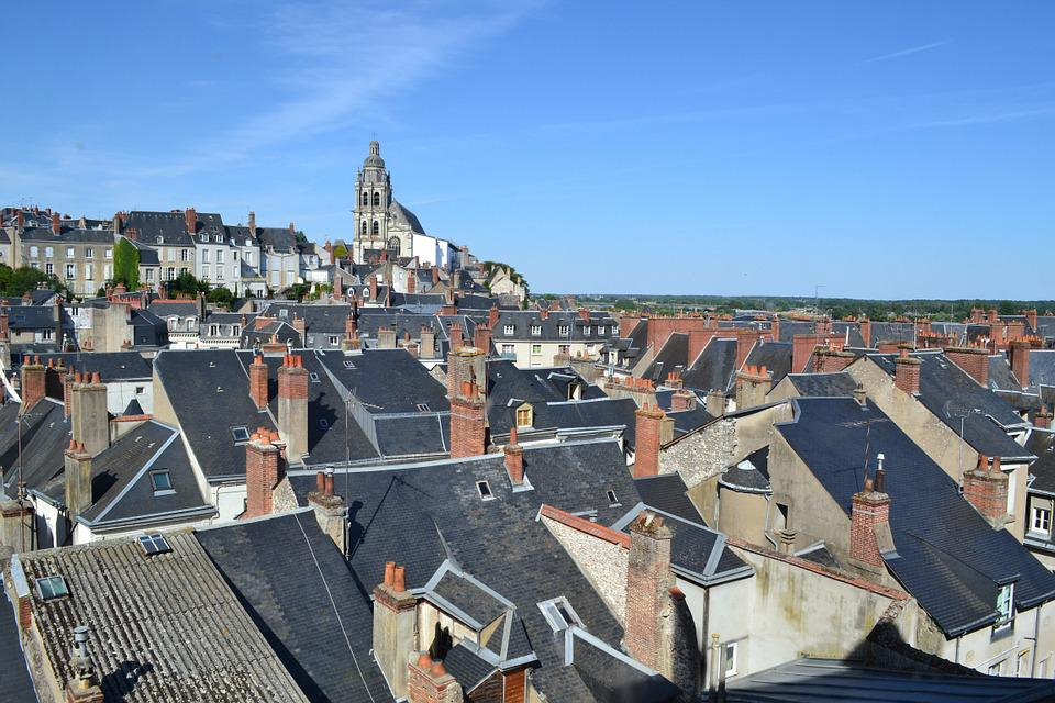 Roof, Roofs, Roofing, Slate Roof, Blois, Church