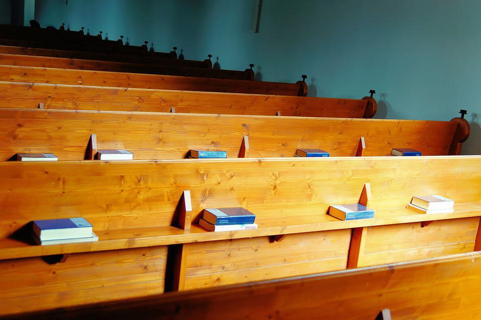 Church, Benches, Wood, Rustic, Rows Of Benches
