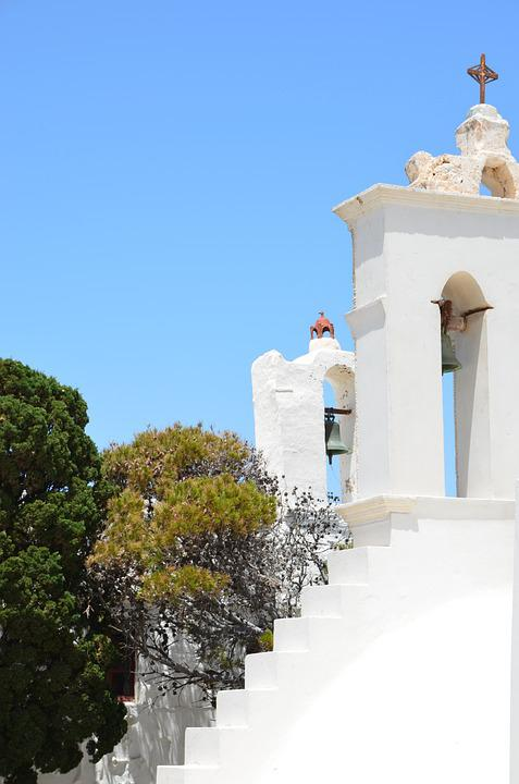 Greece, Serifos, Greek Island, Summer, Church
