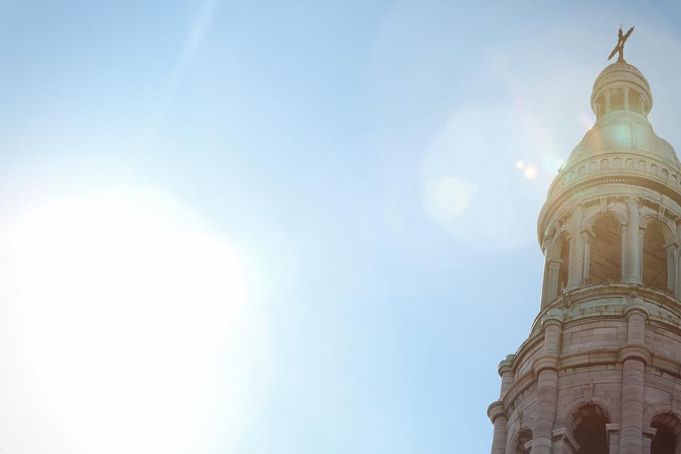 Church, Cross, Religion, Architecture, Blue, Sky
