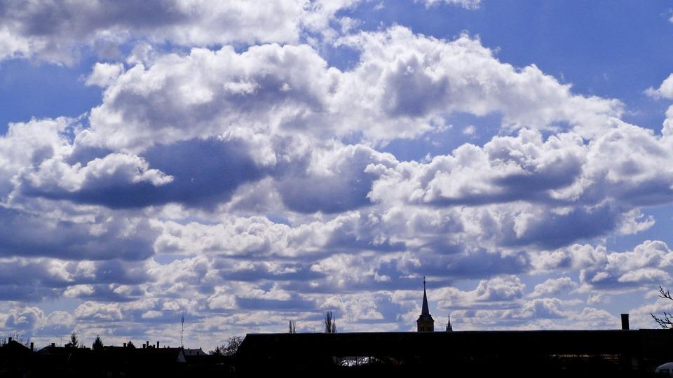 Clouds, Church, Sky