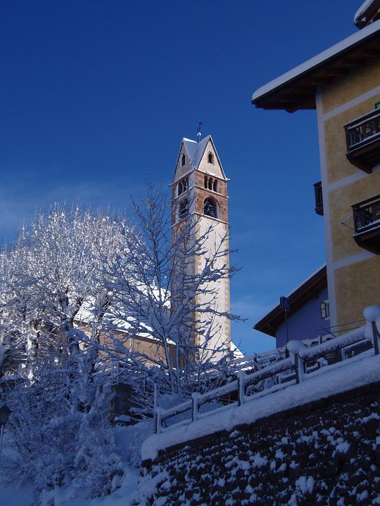 Church, Val Di Fiemme, Trentino, Winter, Snow, Historic